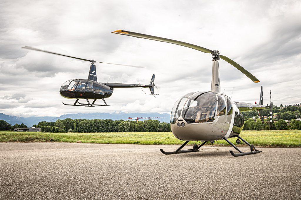 Hélicoptères - ROBINSON RH44 - Mont Blanc Hélicoptères Bordeaux